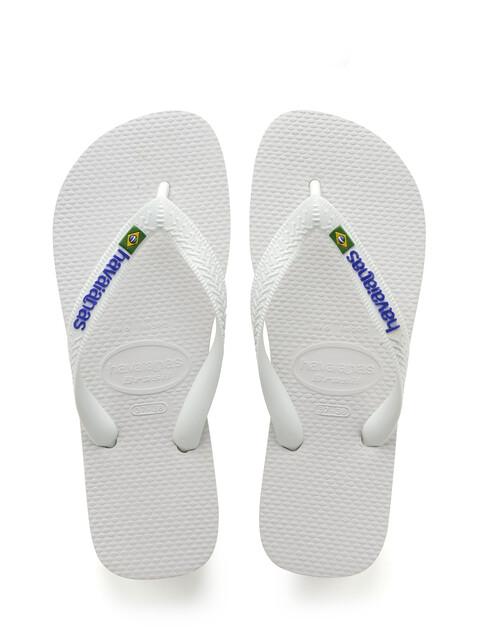 havaianas Brasil Logo Flips Men white